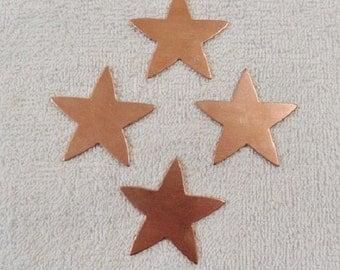 Copper shape large star set of 4