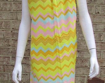 Moxie Dress Bright Yellow 1960's Summer True Vintage