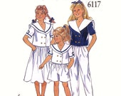 Vintage Nautical sailor style outfits for girls New Look 6117 sewing pattern Size 3 to 10