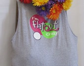 Reusable Market Bag/Tote I'm Flat Out Crazy by Fashion Green T Bags