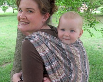 Woven Baby Wrap - 100% Wool Jacquard - so soft and elegant - DVD included- Size 6, 4.6m