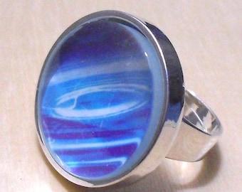 6 pcs silver tone circular Adjustable Ring Blank