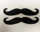 Felt Adhesive Handlebar Mustache 100 Pack, Adhesive Mustache, Stick On Mustache, Felt Mustaches, Mustache Party Pack, Mustache Party Favors