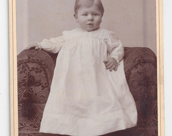 Cabinet Card  late 1800s  Angelic Chubby Cheeked Boy