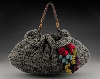 Knitting Patterns for Purses...The Slouchie..Handbag Knitting Patterns Purse Knitting Patterns...free shipping via pdf