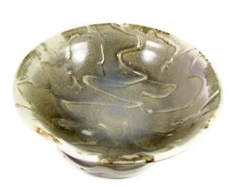 Ceramic Stoneware Bowl - Decorative Art Vessel - Wall Art - Handmade Wheel Thrown Pottery Bowl - Ships Today