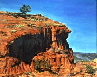 Jemez Profile, A Framed Original Landscape Painting Set In New Mexico, 32 by 34 inches