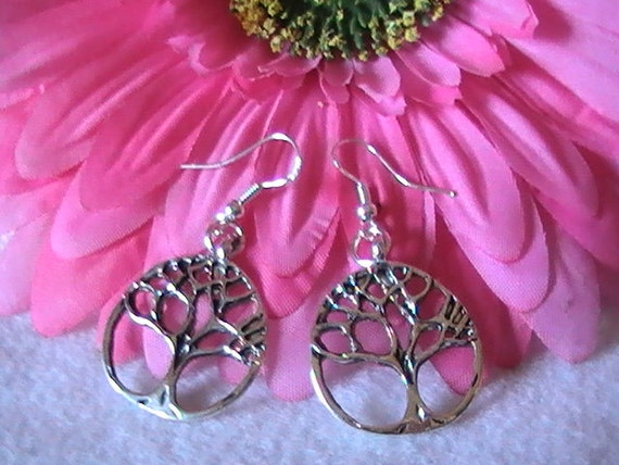 Tree of Life Earrings, Silver Tree Earrings, Gold Tree Earrings, Copper Tree Earrings, Celtic Earrings, Gift, Women, Sister, Family, Wedding