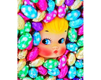 candy doll print aceo size ESTHER EGGS