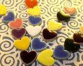 Porcelain Tile Heart Shapes for Mosaics (20 Pieces-Random Mix 3)