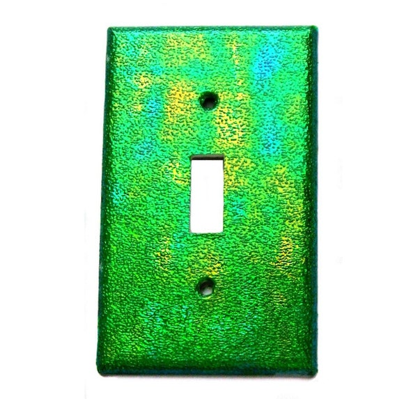 Neon Chartreuse Light Switch Cover, Color Changing Wall Decor, Turquoise Teen Room Decoration