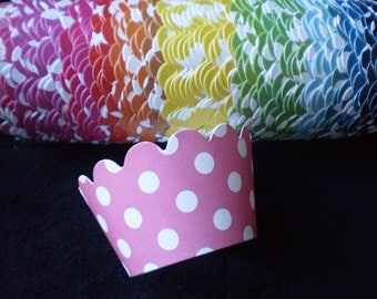 Custom Polka Dot Cupcake Wrappers- Choose Your Color