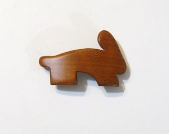 Bunny Rabbit Wooden Hair Clip