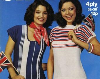 Vintage Ladies Summer Tops, Knitting Pattern, 1960 (PDF) Pattern, Sirdar 5766