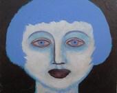 Valorie- little original acrylic portrait