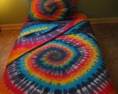 Tie Dye Organic Cotton Queen-size Sheet Set in Custom Colors