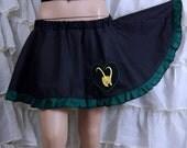 Loki Love Dark Green Black Circle Skirt Adult ALL Sizes - MTCoffinz