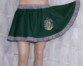 Slytherin Embroidered House Crest Circle Skirt Adult ALL Sizes - MTCoffinz