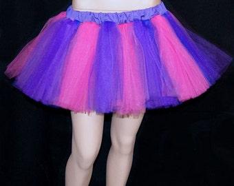 Cheshire Cat Bubblegum Pink Dark Purple Striped Tutu adult All SIZES MTCoffinz