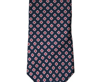 Vintage Brooks Brothers Navy Blue Silk Necktie
