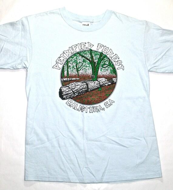 vintage petrified forest calistoga ca tourist shirt mens size