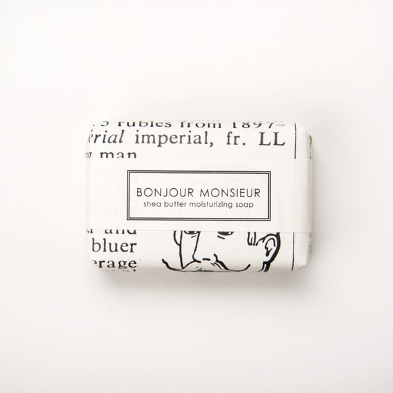 Bonjour Monsieur -  Shea Butter Soap - large 7oz. bar