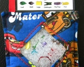 I Spy Bag - Mini with SEWN Word List and Detachable PICTURE LIST- Lightning McQueen and Mater