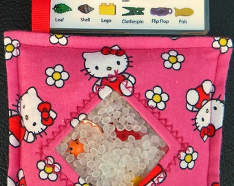I Spy Bag - Mini with SEWN Word List and Detachable PICTURE LIST- Hello Kitty