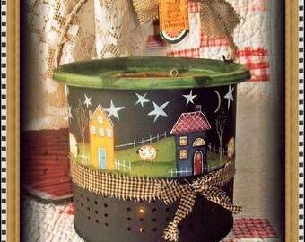 Apple Tree Cottage Original Design E Pattern  - Starry Night Minnow Bucket Lantern