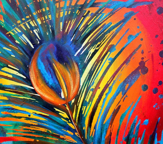 Unavailable listing on etsy for Painting feathers on canvas
