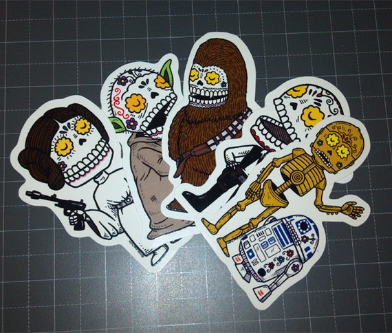 Calaveras Vinyl Sticker 5-Pack