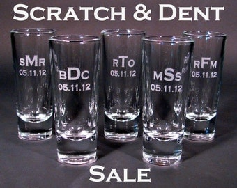 Personalized Etched Shot Glass - SCRATCH & DENT SALE - Listing of 1 Glass