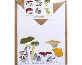 toadstool writing set (100% recycled paper)