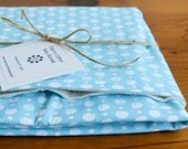 Organic Baby Blanket in DOUBLE DOT AQUA, Turquoise and White Polka Dot Organic Baby Blanket Gift, Receiving Blanket by Organic Quilt Company