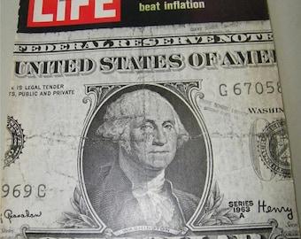 Vintage Life Magazine Inflation February 13 1970 7243