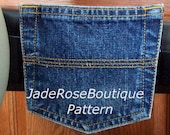 Wheelchair Accessories Jean Pocket Pouch for Wheelchair Pattern to Sew - PDF File