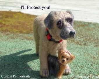 Custom Pet Portrait / Needle felted dog / poseable