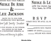 Invitation rubber stamp DIY wedding INVITE ONLY