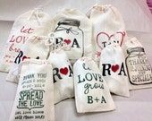 Custom Muslin Bags  8x12  perfect for DIY wedding favors 100 qty --9928