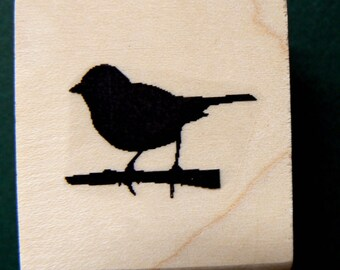 Little bird rubber stamp WM P4