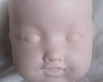 SALE Vintage A. M. Germany Bisque Doll Head 352/4, Ready To Paint Was 39.99 Now 34.99