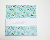 PAPER KIT - 20 sheet of recycled paper -  elegant and colorful patterns - Decorative paper for scrapbooking or craft project