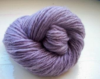 Handspun merino yarn natural dyed lavender by SpinningStreak