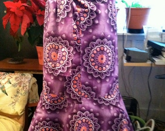 Purple and Pink African Wrap Skirt one size fits all