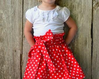Red And White  Skirt, Girl Skirt, Red Skirt, Fall Girl Skirt, Winter Skirt, Toddler Skirt, Infant Skirt