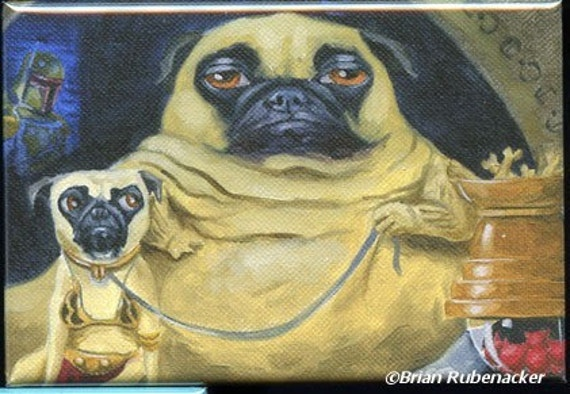 Pug jabba dog art magnet Jabba The Hutt Costume For Dogs