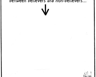 believers and non-believers PRINT