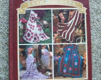 Afghans Extravaganza, Crochet,Patterns,Hardback Book,Needlecraft Shop