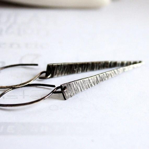 Handmade Sterling Silver Spike Earrings Minimalist Jewelry