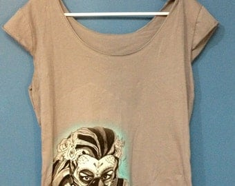 day of the dead Gas mask tank